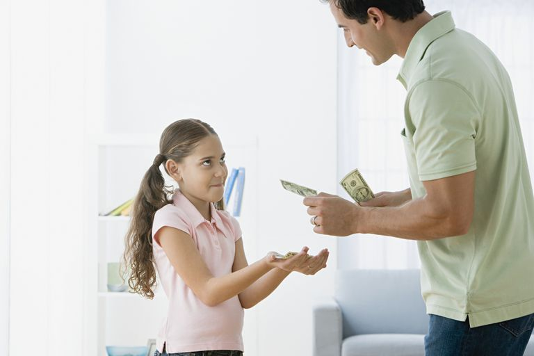affluenza - girl getting allowance from dad