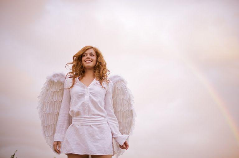 angel of beauty with rainbow Archangel Jophiel
