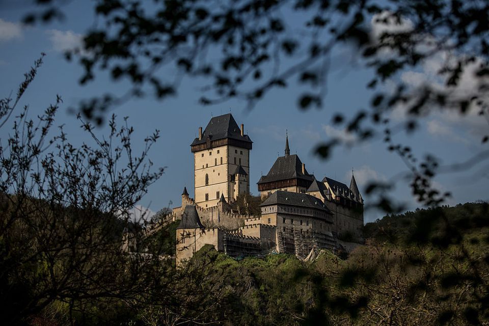 A general view of the Karlstejn Castle near Prague on May 5, 2016 in Karlstejn, Czech Republic.