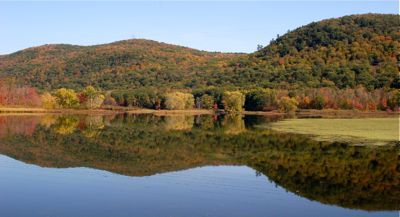 Woods Pond Fall Foliage Berkshires Lenox MA