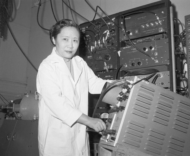 Chien-Shiung Wu in a Laboratory