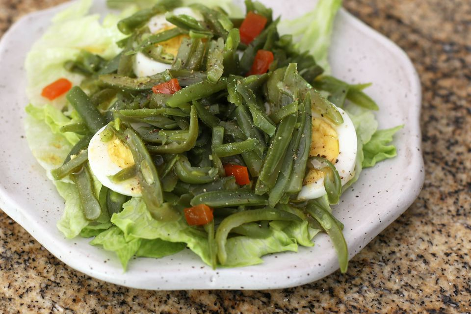 Easy Green Bean Salad With Eggs