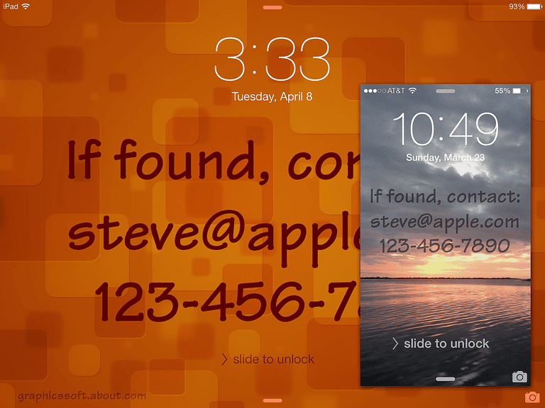 Put Contact Info on the iOS Lock Screen Wallpaper