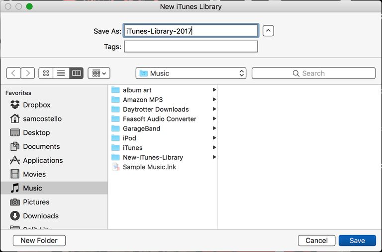 multiple iTunes libraries one computer, step 2