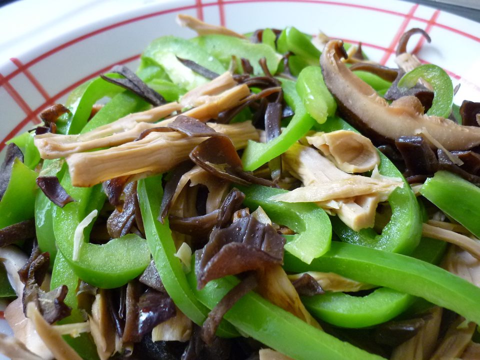 Stir-Fried Mushrooms and Bamboo Shoots