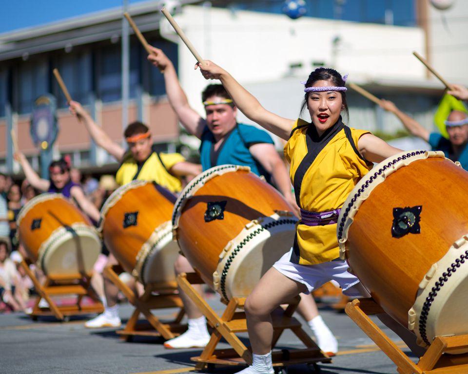 San Jose Taiko at Obon Festival Japantown San Jose