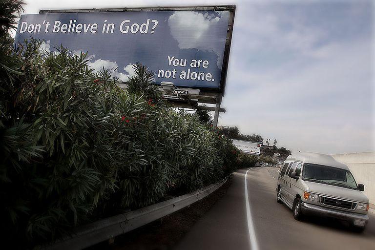 USA - Religion - Anti-Religious Organization Posts Billboard Ad for Non-Believers
