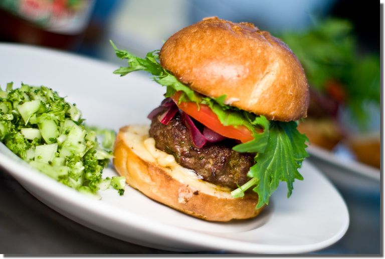 Hoisin Ginger Burgers with Lime Pickled Onions Recipe, Winner of MarxFood's Burger Recipe Contest.