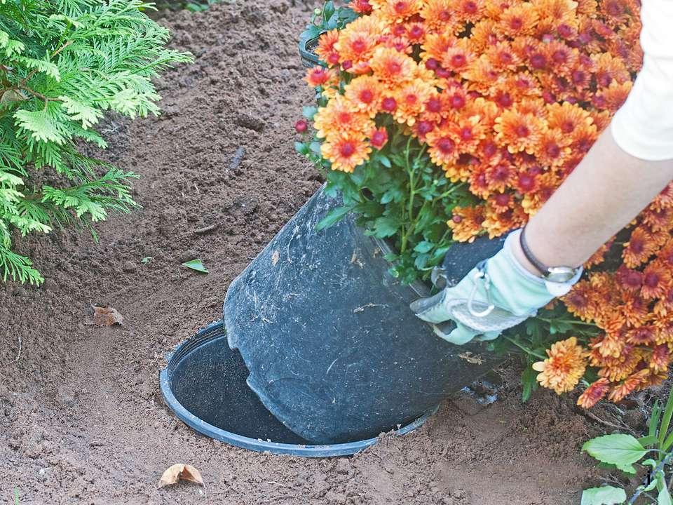 Clever ways to reuse plastic gardening pots pot holderin ground workwithnaturefo