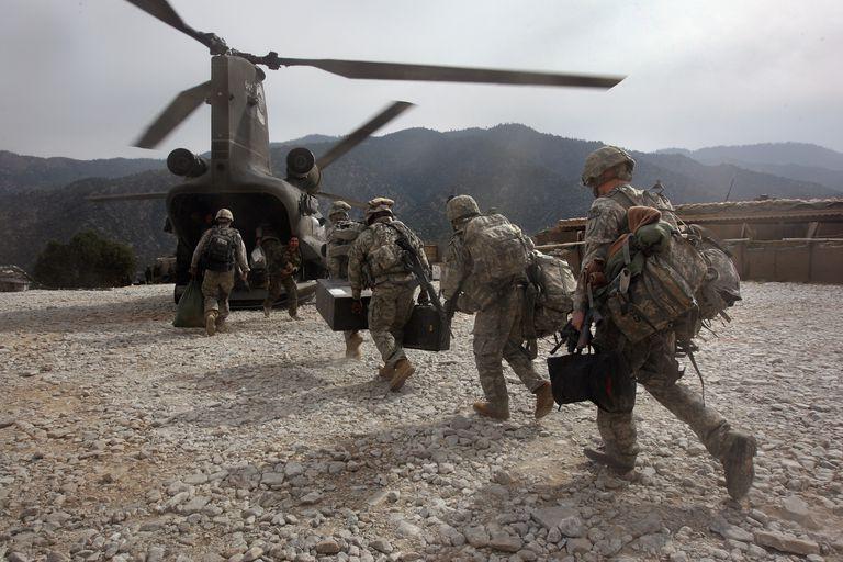 Soldados en Afghanistan