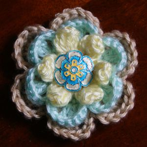 Layered Crochet Rose
