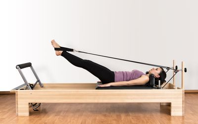 Image result for pilates reformer single leg