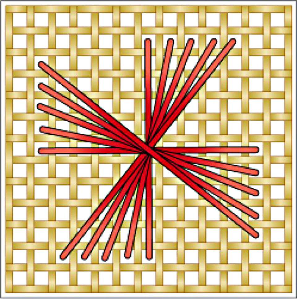 Rhodes Pinwheel Needlepoint Diagram