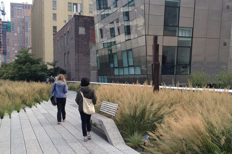 Walkers on High Line, New York City