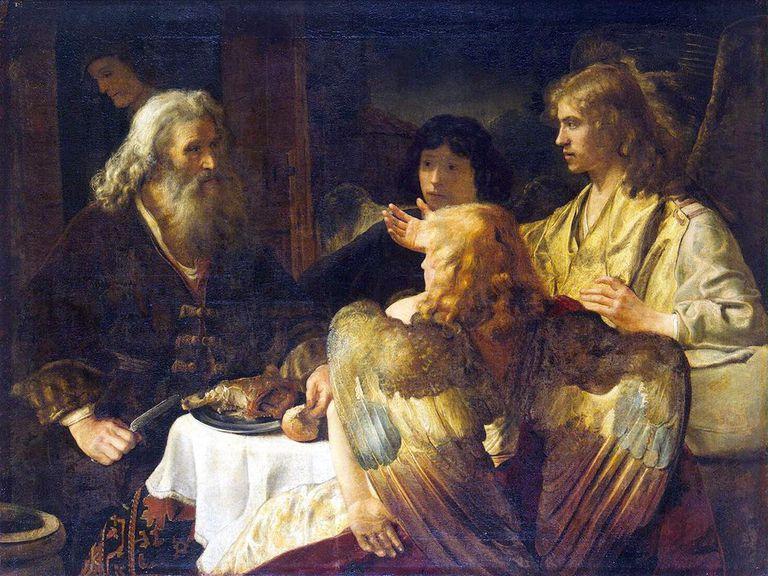 'Abraham and the Three Angels', 1630s. Artist: Rembrandt Harmensz van Rijn