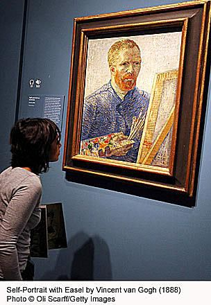 Self-Portrait with Easel Painting by Vincent van Gogh