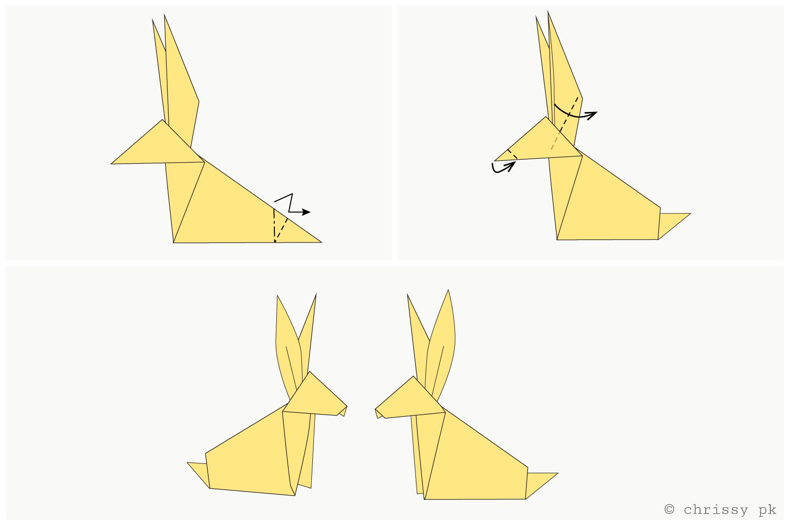 Traditional origami rabbit instructions jeuxipadfo Gallery