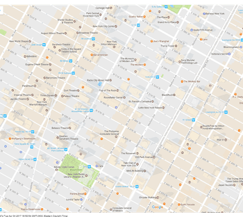 navigate nycs rockefeller center with this handy street map