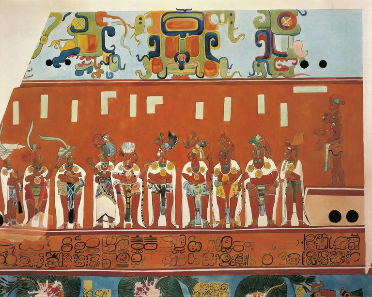Discovery of the mural paintings of bonampak for Bonampak mural painting