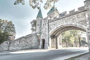 Porte St Louis wall,Quebec City
