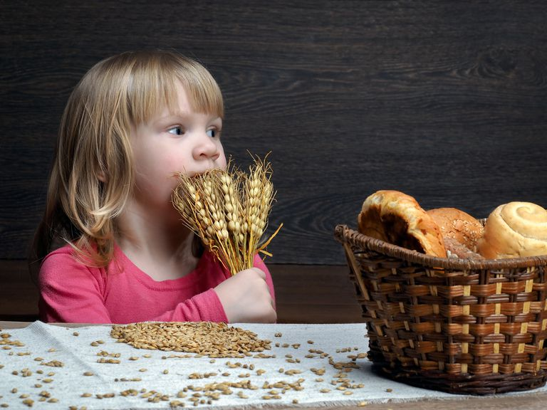child with wheat
