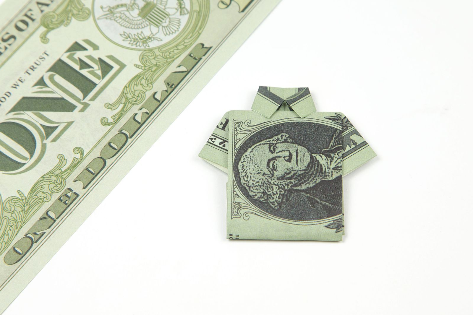 Origami learn how to make an easy origami dollar shirt jeuxipadfo Image collections