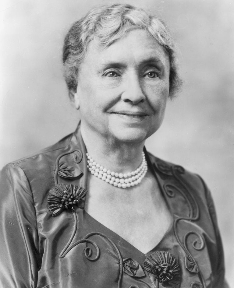 Helen keller quotes that inspire headshot portrait of american educator and activist for the disabled helen keller 1880 1968 altavistaventures Images