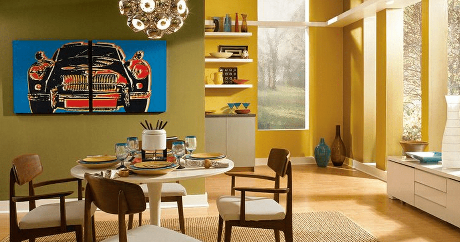 Color copycat how to decorate a mid century modern room for Mid century modern design principles
