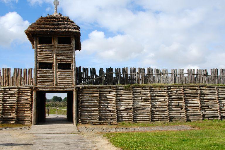Entrance Gate to Biskupin Reconstructed Hillfort, Poland