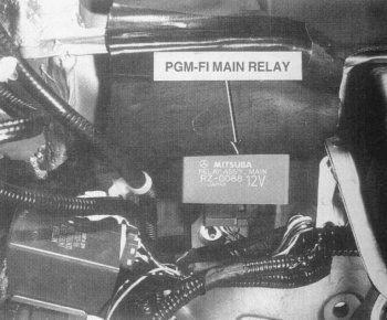 Honda Main Relay Location (Typical)
