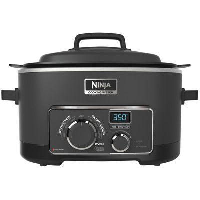 ninja 3-in-1 cooking system, mc700, oven, slow cooker, crockpot, steamer, roaster, recipes