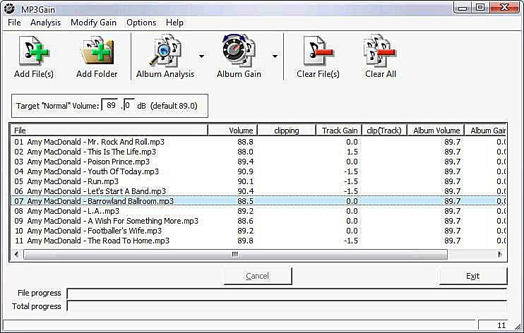 MP3Gain - Normalize MP3