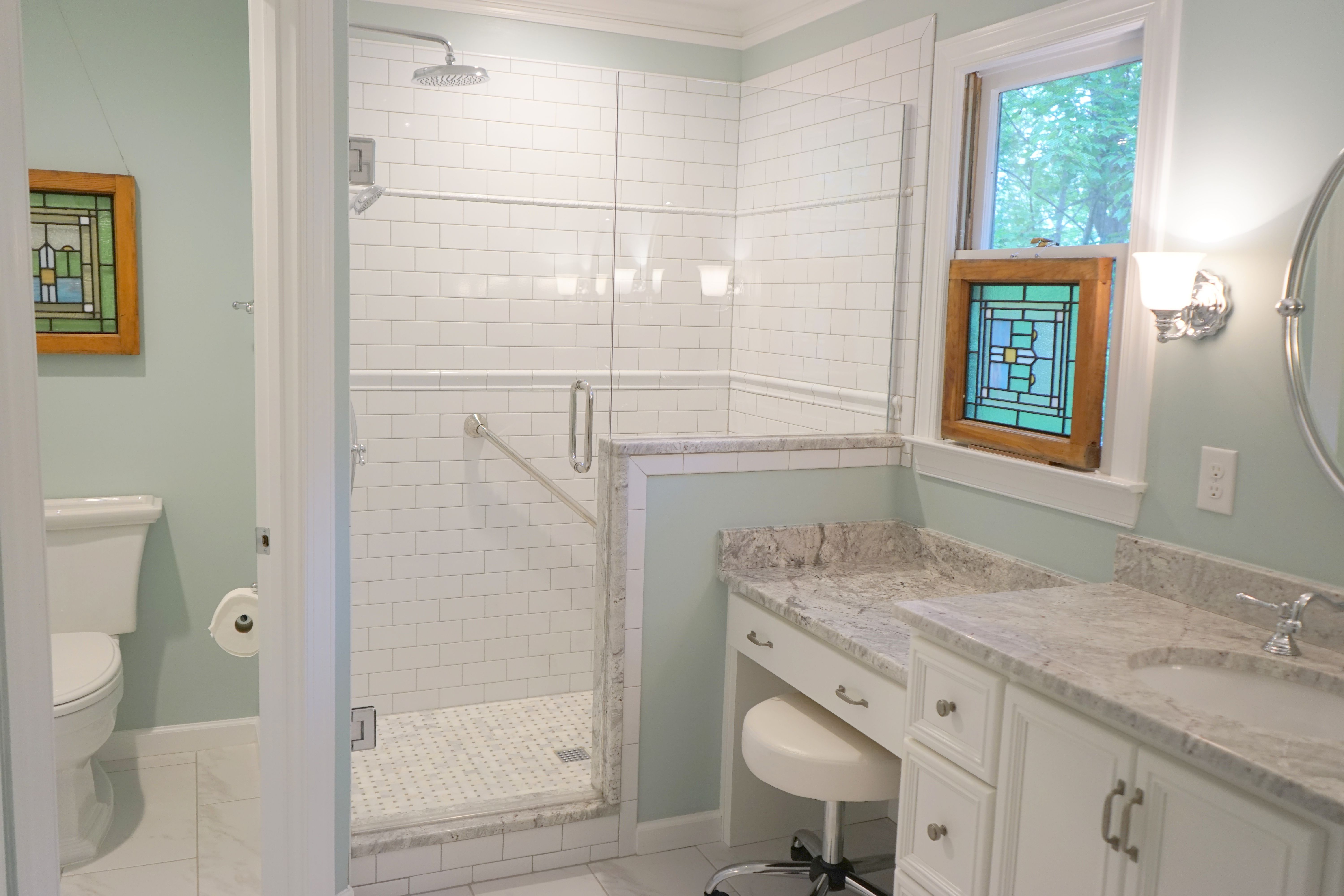 brought to redoing how bathroom the into century this master modern remodel update just s coastal a
