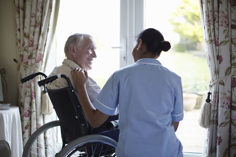 A Nurse Using Reality Orientation