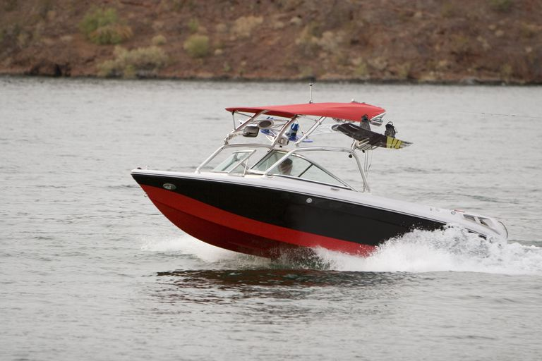 Wakeboard Boat on Lake