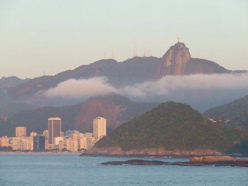 Rio de Janeiro - Corcovado Mountain in the Early Morning