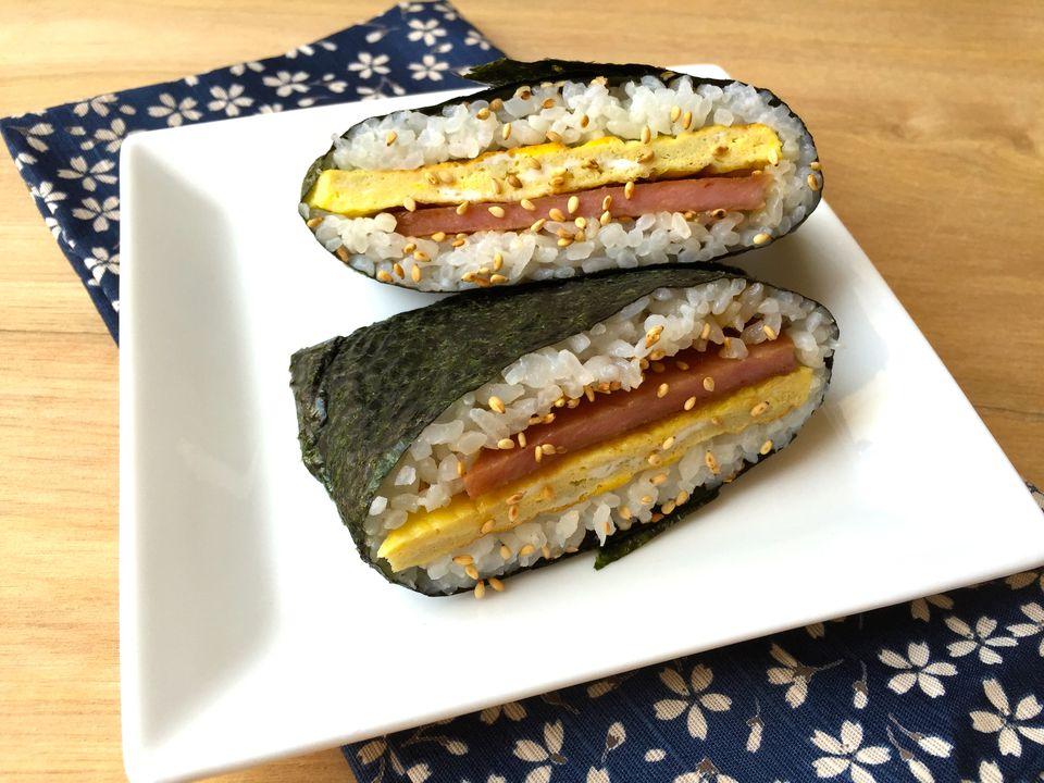 SPAM and Egg Onigirazu