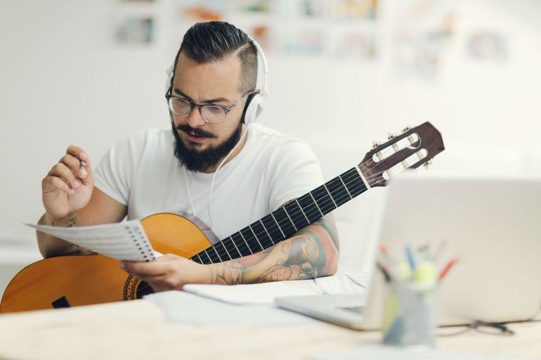 Songwriter Composing Music.