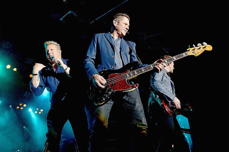 Rascal Flatts perform to an enthusiastic crowd at the second annual Outnumber Hunger Live! at The LINQ in Las Vegas.