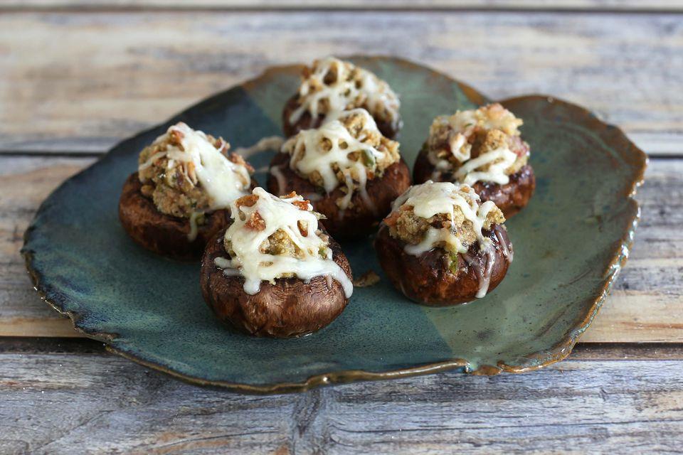 stuffed mushrooms with bacon