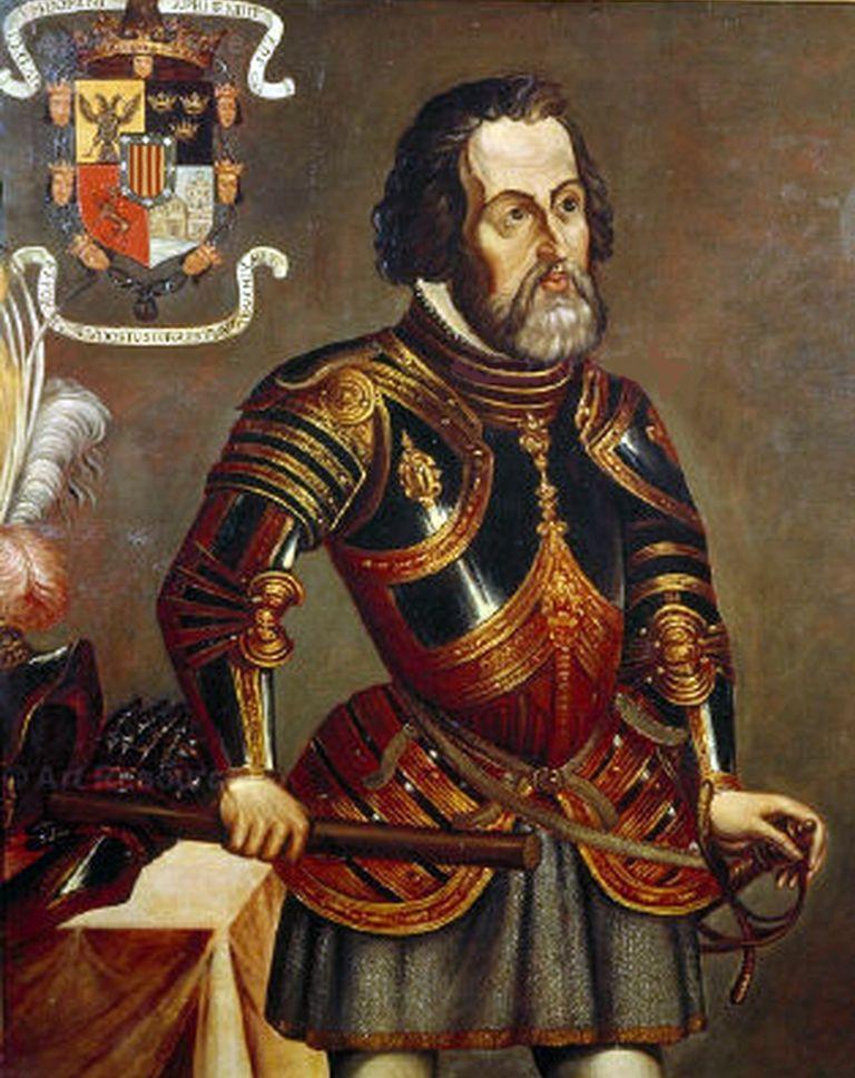 Hernan Cortes Painting