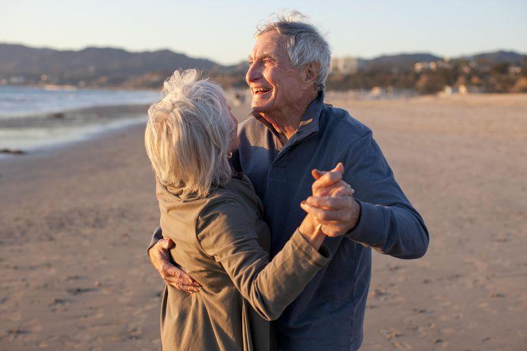 Senior Couple Beach Lifestyle