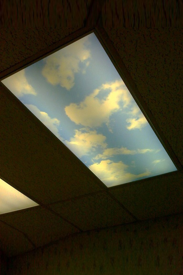 Fluorescent Light Cloudy Sky Cover