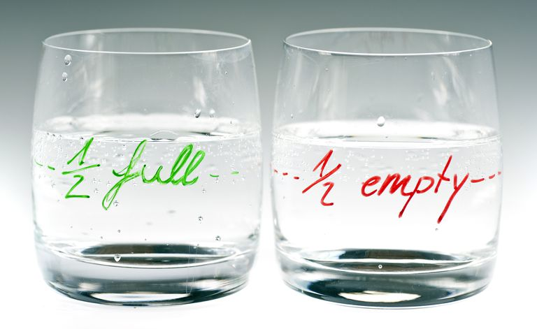 half full and empty