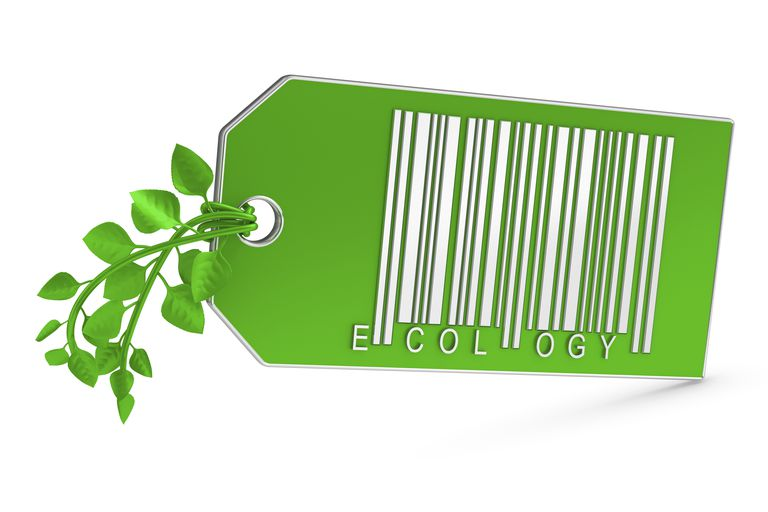 Green Marketing tag with ecology printed on it.