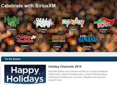 SIRIUS XM Radio Offers More Christmas and Holiday Music Channel ...
