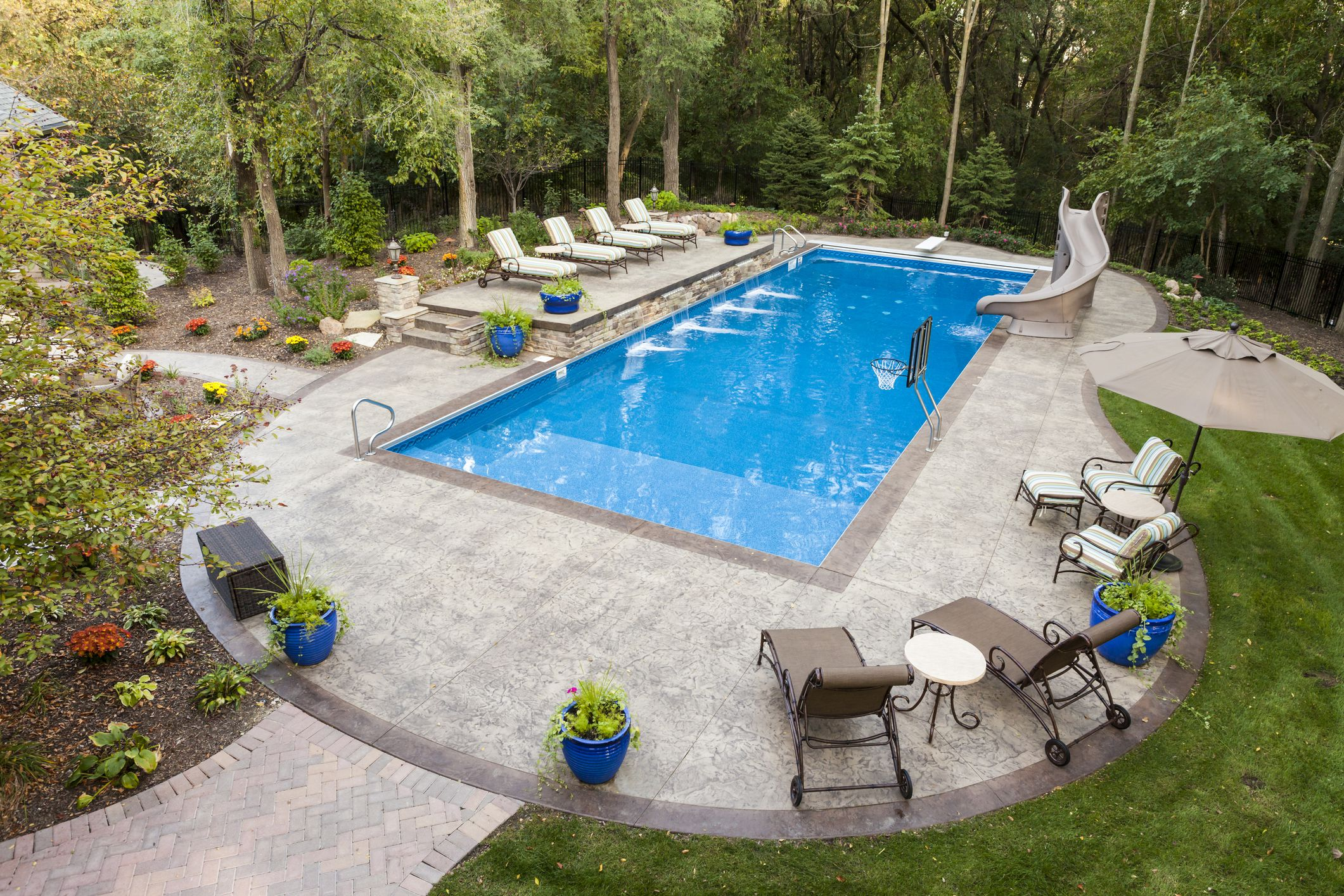 What is coping reasons for pool coping and edging for In ground pool backyard ideas