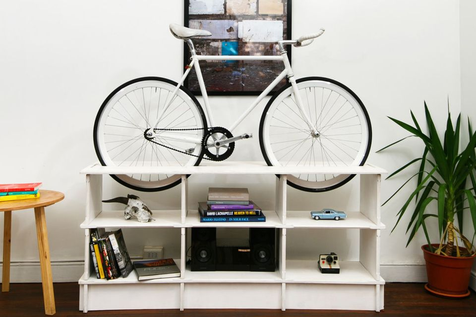 Bike Rack Furniture Is Perfect For Tiny Apartments And Dorm Rooms - Storage furniture for small spaces