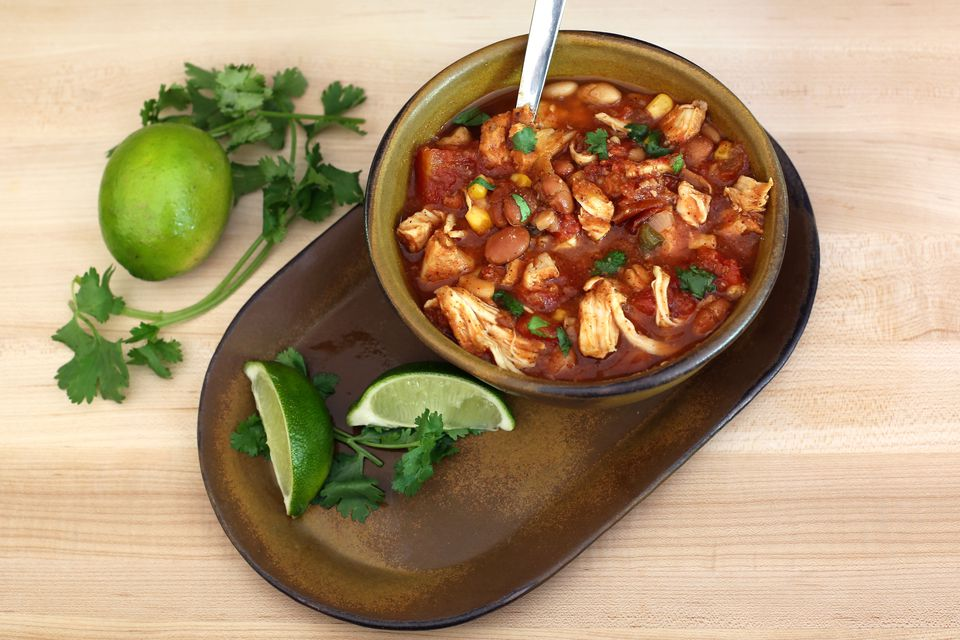 Hearty Slow Cooker Chicken Chili