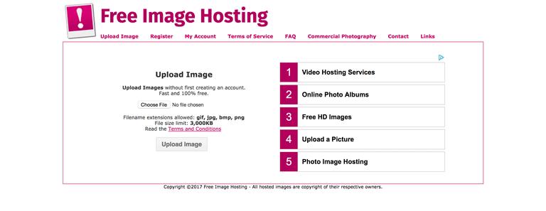 Top 100 Free Photo Sharing & Image Hosting Sites List 2017